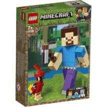 LEGO® Minecraft - Minecraft™ BigFig Steve papagájjal (21148)